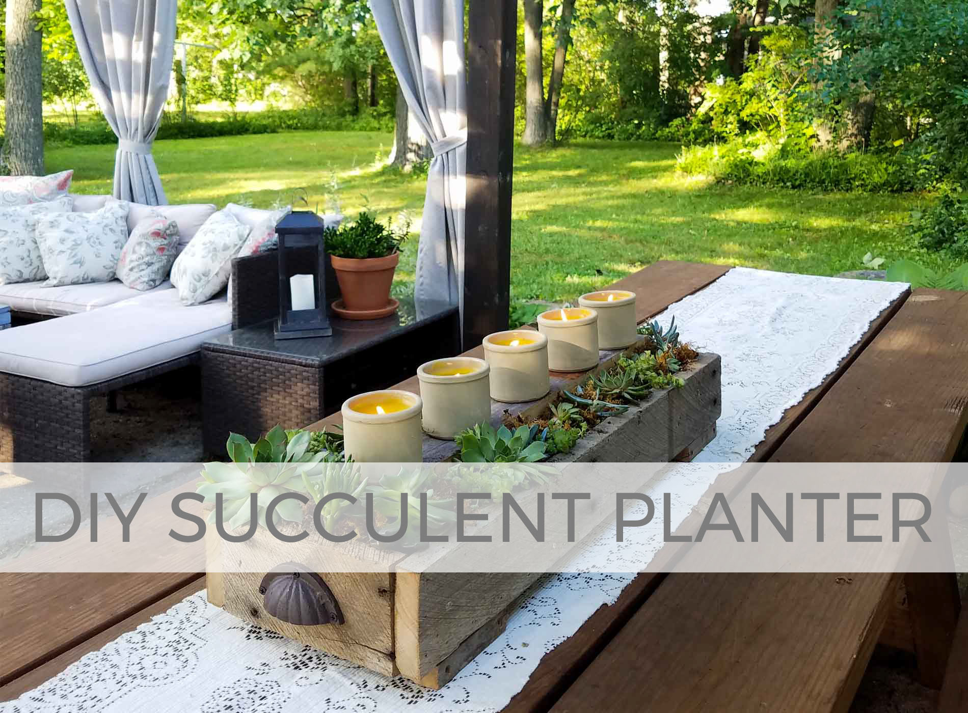 Build this DIY succulent planters with plans by Larissa of Prodigal Pieces | prodigalpieces.com #prodigalpieces