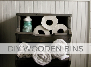 Build these DIY wooden bins for any room of your home | by Larissa of Prodigal Pieces | prodigalpieces.com #prodigalpieces