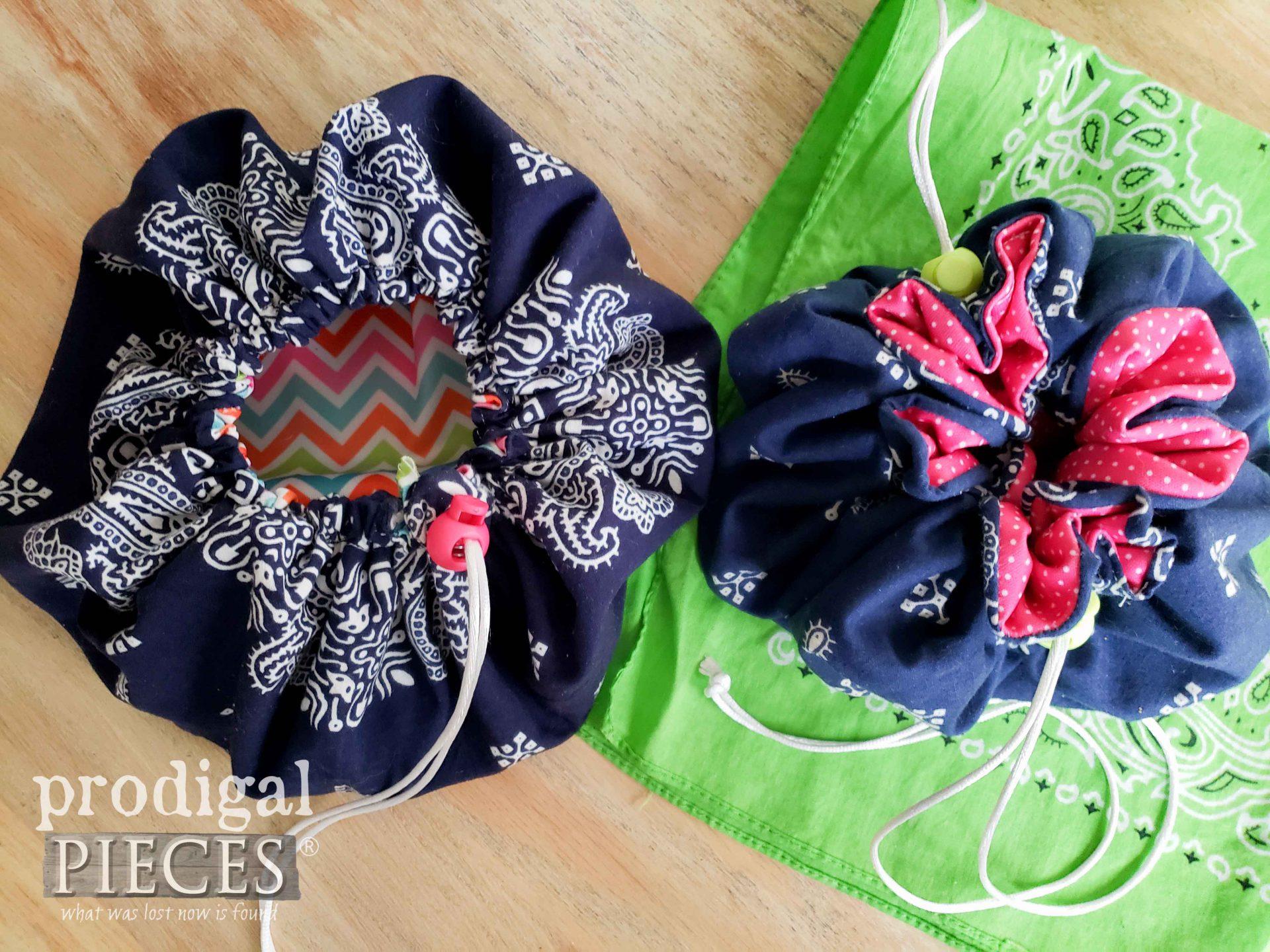 Drawstring Bag Side-by-Side Comparison   prodigalpieces.com #prodigalpieces
