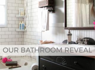 DIY Farmhouse Bathroom Remodel Reveal by Larissa of Prodigal Pieces   prodigalpieces.com #prodigalpieces