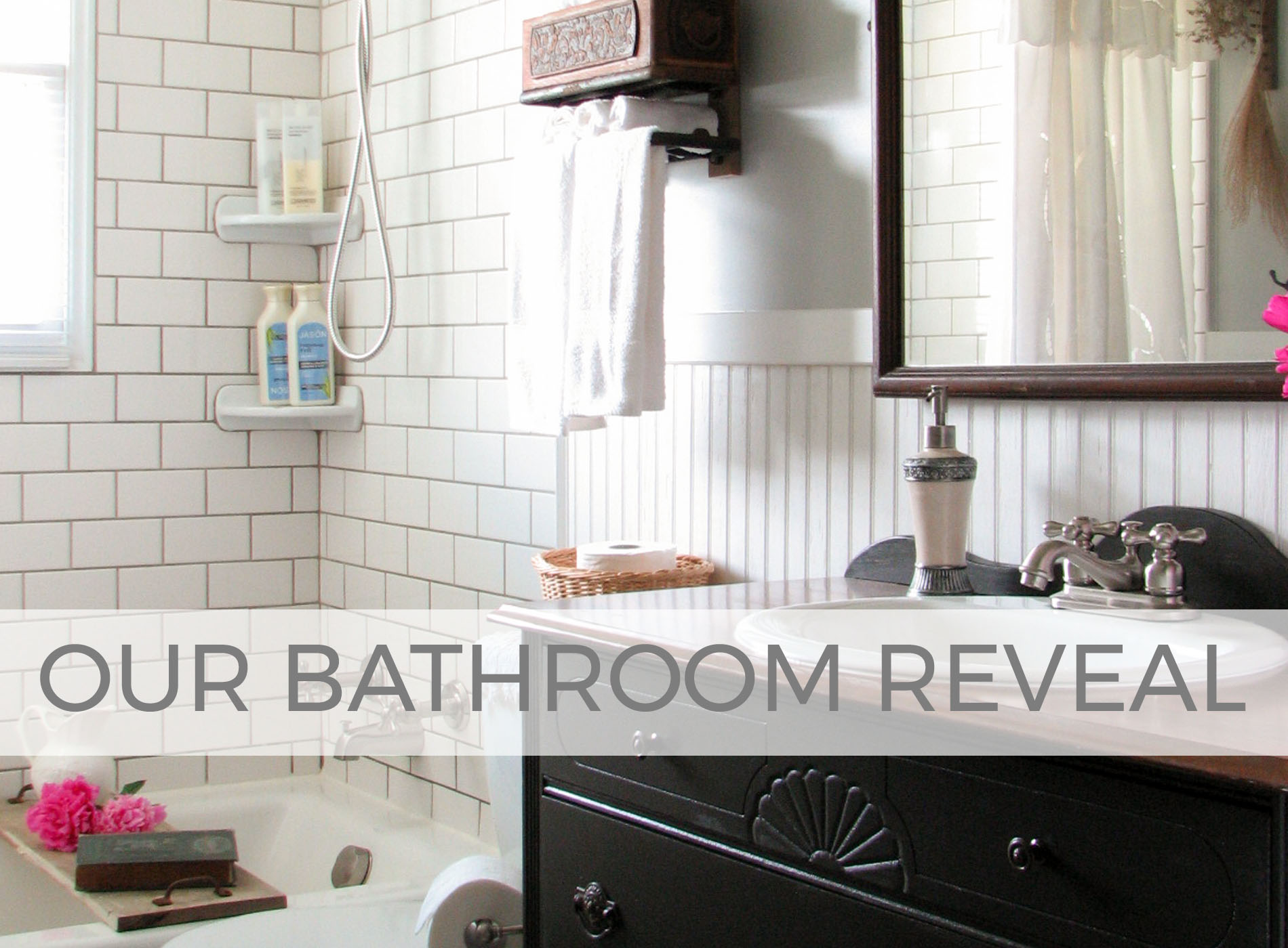 DIY Farmhouse Bathroom Remodel Reveal by Larissa of Prodigal Pieces | prodigalpieces.com #prodigalpieces