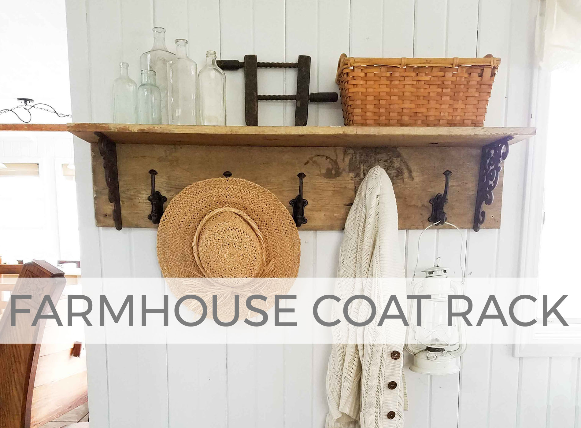 Build a farmhouse coat rack with this tutorial by Larissa of Prodigal Pieces | prodigalpieces.com #prodigalpieces