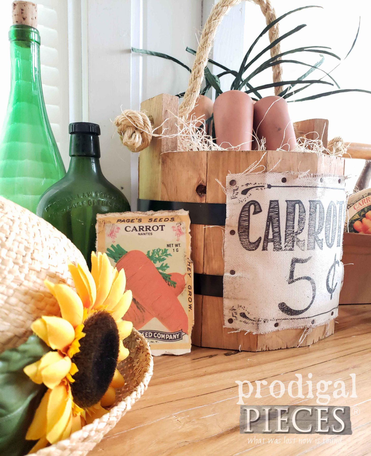 Farmhouse Spring Decor with DIY Carrots by Larissa of Prodigal Pieces | prodigalpieces.com #prodigalpieces #diy #spring #farmhouse #home #homedecor #crafts