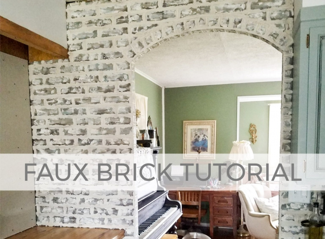 Love the look of brick? You can create it with this faux brick video tutorial by Larissa of Prodigal Pieces | prodigalpieces.com #prodigalpieces