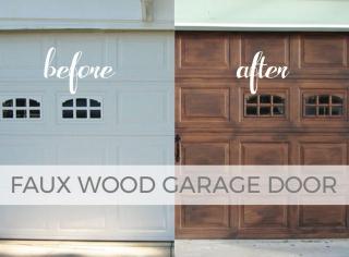 DIY Faux Wood Garage Door Tutorial by Larissa of Prodigal Pieces   prodigalpieces.com #prodigalpieces