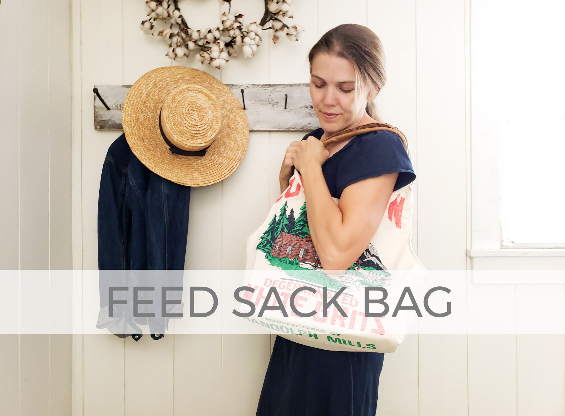 Farmhouse Style Upcycled Feed Sack Bag by Larissa of Prodigal Pieces | prodigalpieces.com #prodigalpieces