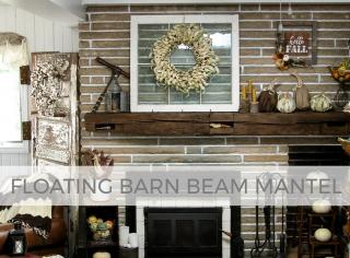 DIY Floating Barn Beam Mantel by Larissa of Prodigal Pieces   prodigalpieces.com #prodigalpieces