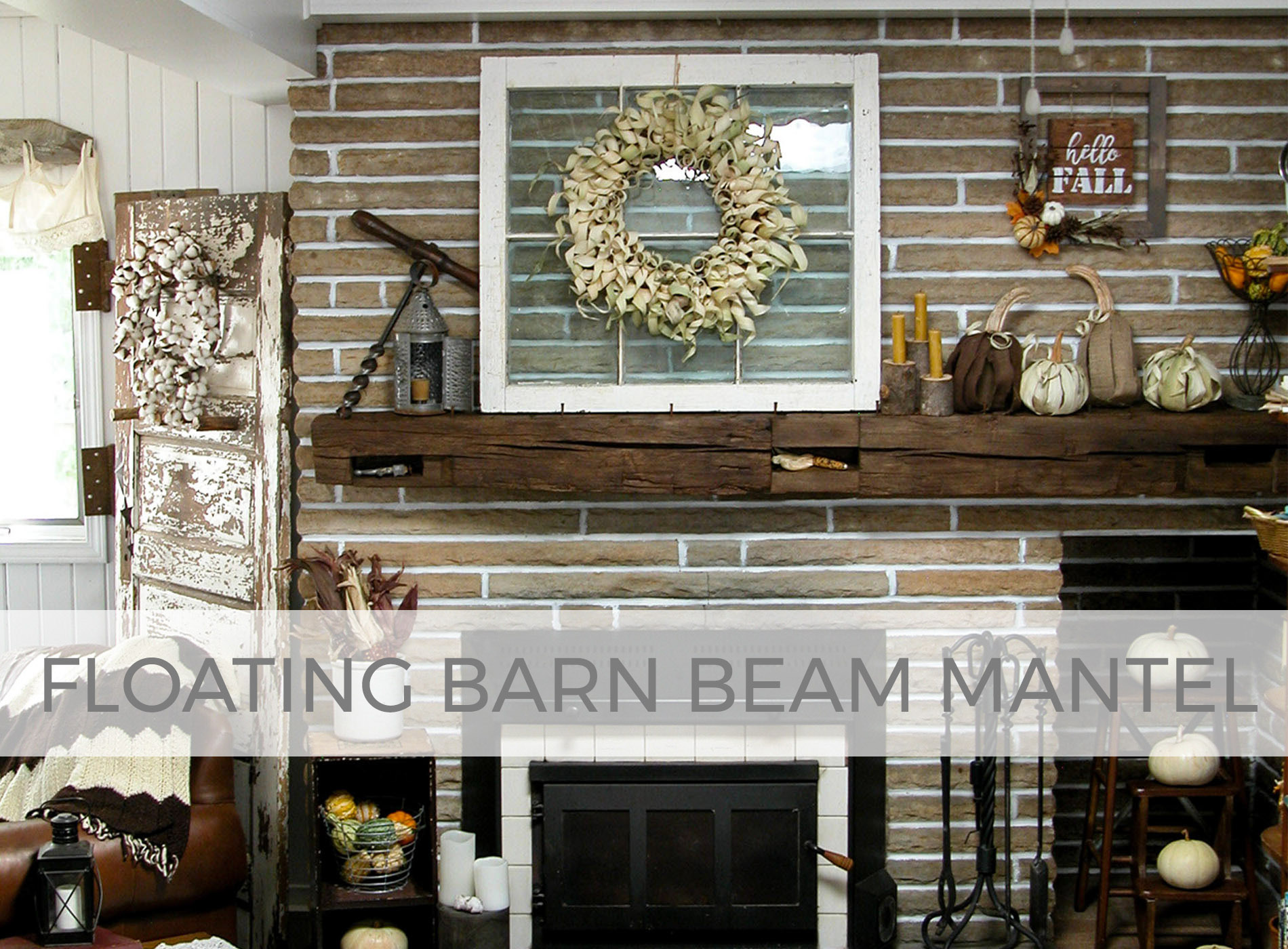 DIY Floating Barn Beam Mantel by Larissa of Prodigal Pieces | prodigalpieces.com #prodigalpieces