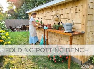 DIY Folding Potting Bench with Design Plans by Prodigal Pieces   prodigalpieces.com