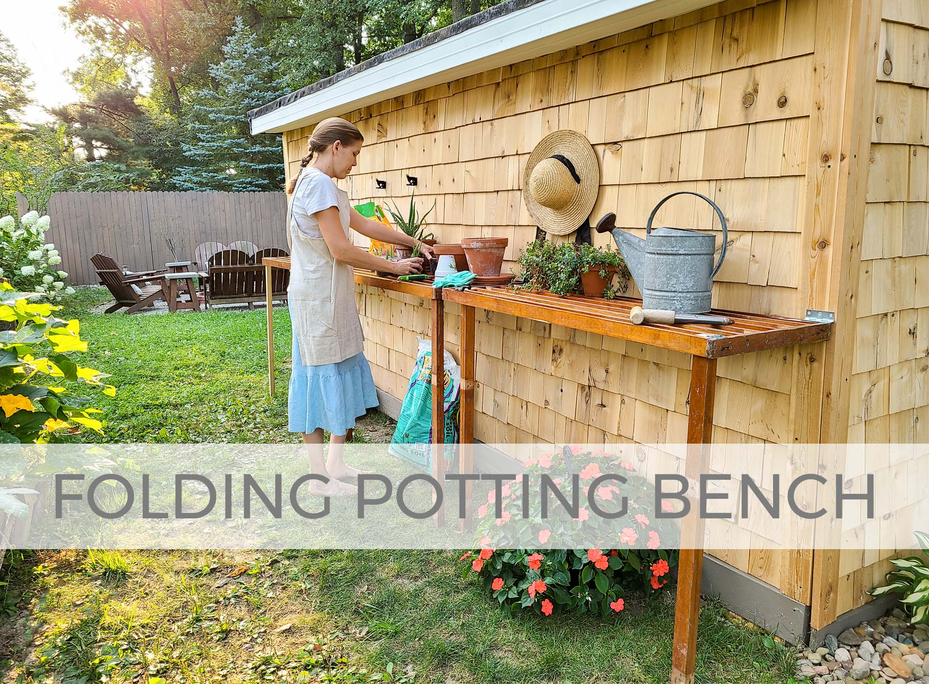 DIY Folding Potting Bench with Design Plans by Prodigal Pieces | prodigalpieces.com
