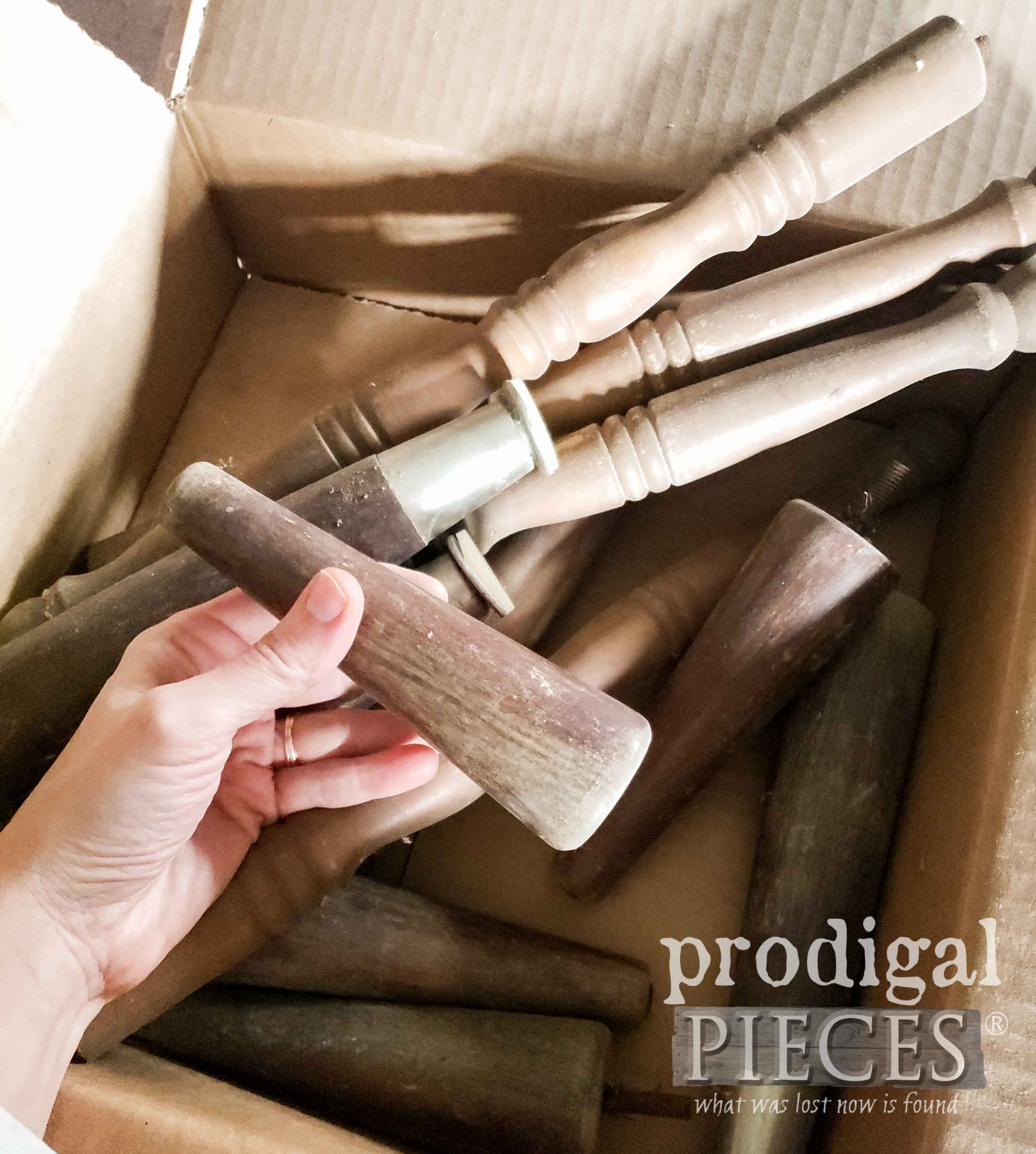 Furniture Leg Before Upcycle by Prodigal Pieces | prodigalpieces.com