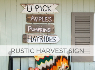 Celebrate the autumn season with this DIY Harvest Sign by Larissa of Prodigal Pieces | prodigalpieces.com #prodigalpieces