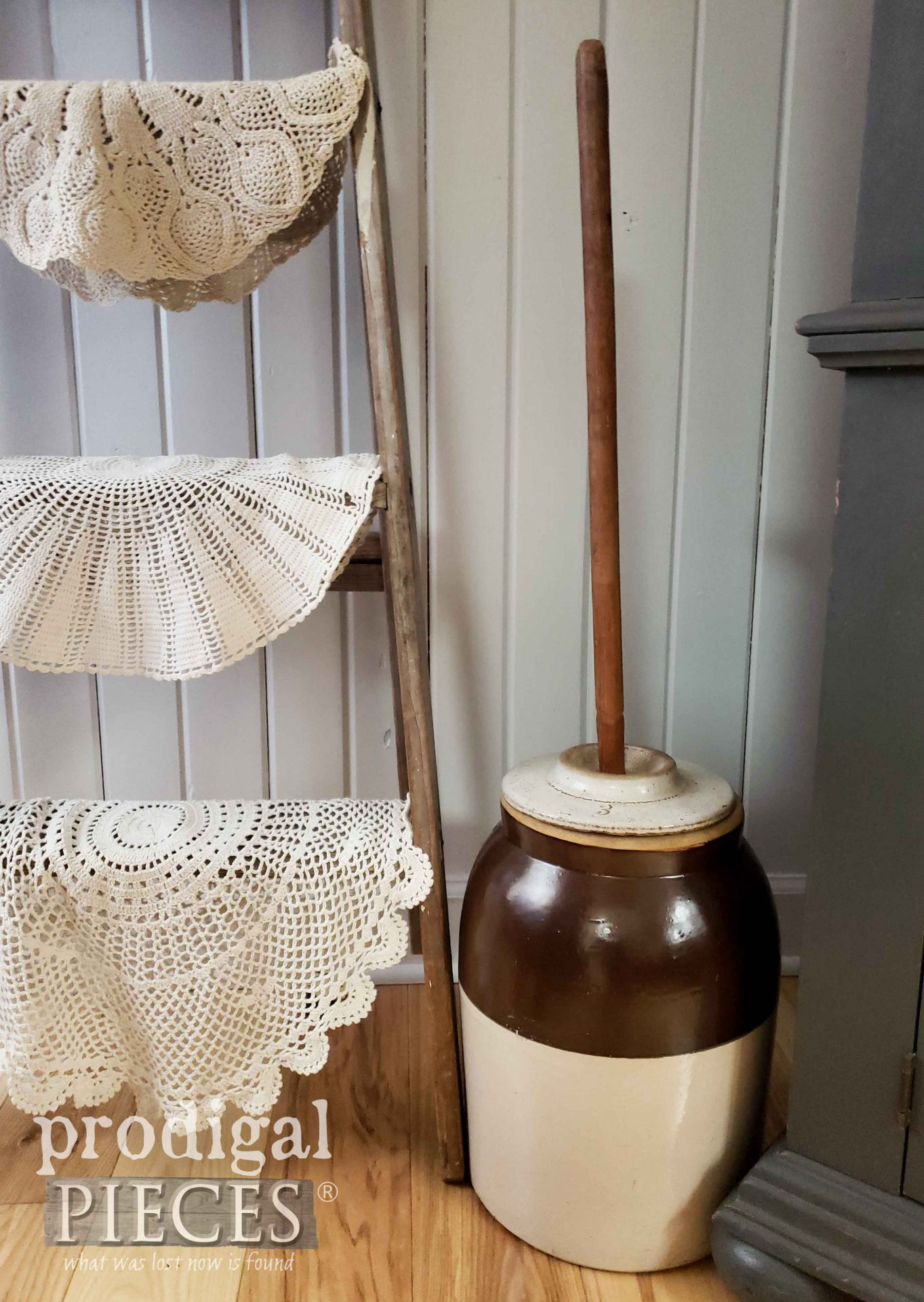 Heirloom Antique Butter Churn owned by Larissa of Prodigal Pieces | prodigalpieces.com #prodigalpieces #farmhouse #antique #home #homedecor