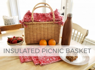 DIY Insulated Picnic Basket by Larissa of Prodigal Pieces | prodigalpieces.com #prodigalpieces