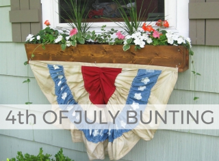 Grab those thrifted textiles and make this 4th of July Bunting with Larissa of Prodigal Pieces | prodigalpieces.com #prodigalpieces