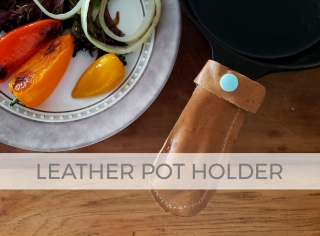 Create an upcycled leather pot holder with video tutorial by Larissa of Prodigal Pieces | prodigalpieces.com #prodigalpieces