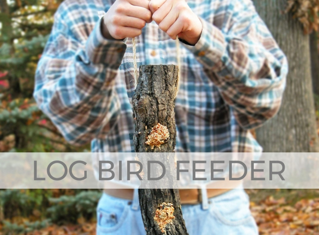 Take care of our feathered friends with this DIY Log Bird Feeder by Larissa of Prodigal Pieces | prodigalpieces.com #prodigalpieces