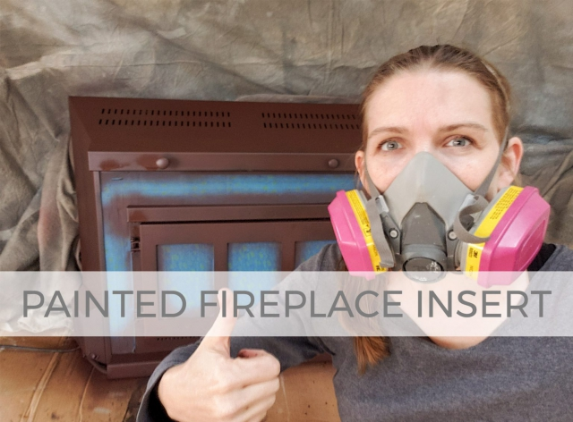 How to Paint your Fireplace Insert by Prodigal Pieces | prodigalpieces.com #prodigalpieces