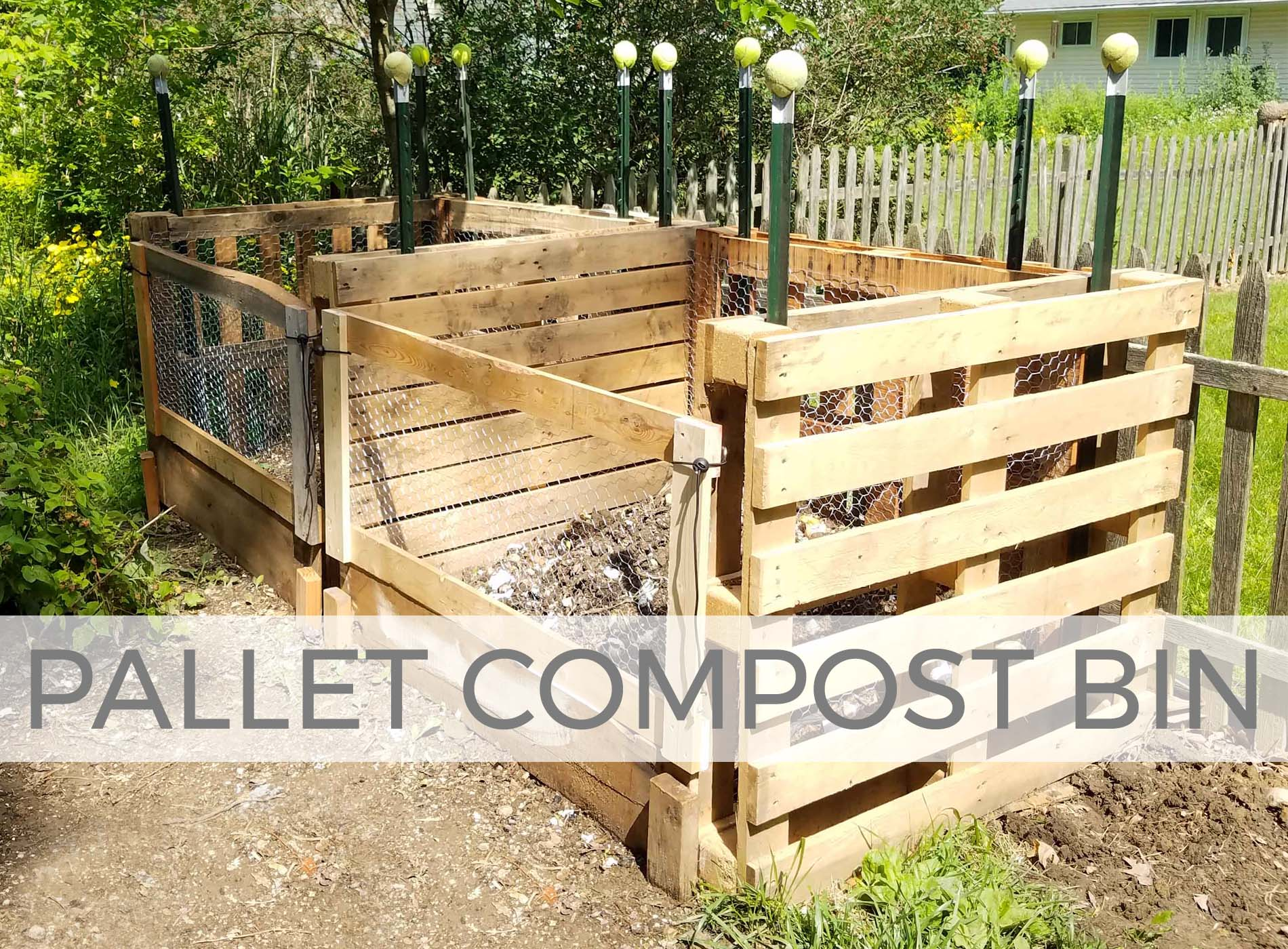Build a compost bin with pallets | Tutorial by Larissa of Prodigal Pieces | prodigalpieces.com #prodigalpieces