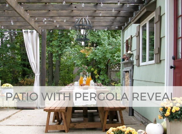 Our DIY patio with pergola reveal by Larissa of Prodigal Pieces | prodigalpieces.com #prodigalpieces