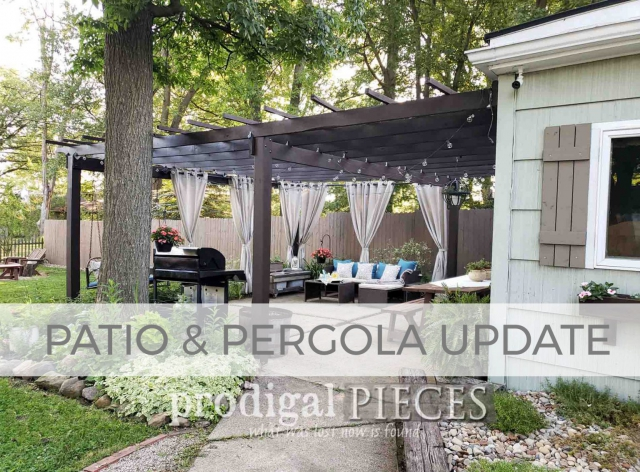 DIY Patio & Pergola Update by Prodigal Pieces | prodigalpieces.com