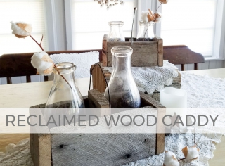 Build a reclaimed wood caddy with this tutorial by Larissa of Prodigal Pieces | prodigalpieces.com #prodigalpieces