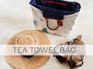 Upcycled Tea Towel Turned Bag by Larissa of Prodigal Pieces | prodigalpieces.com #prodigalpieces
