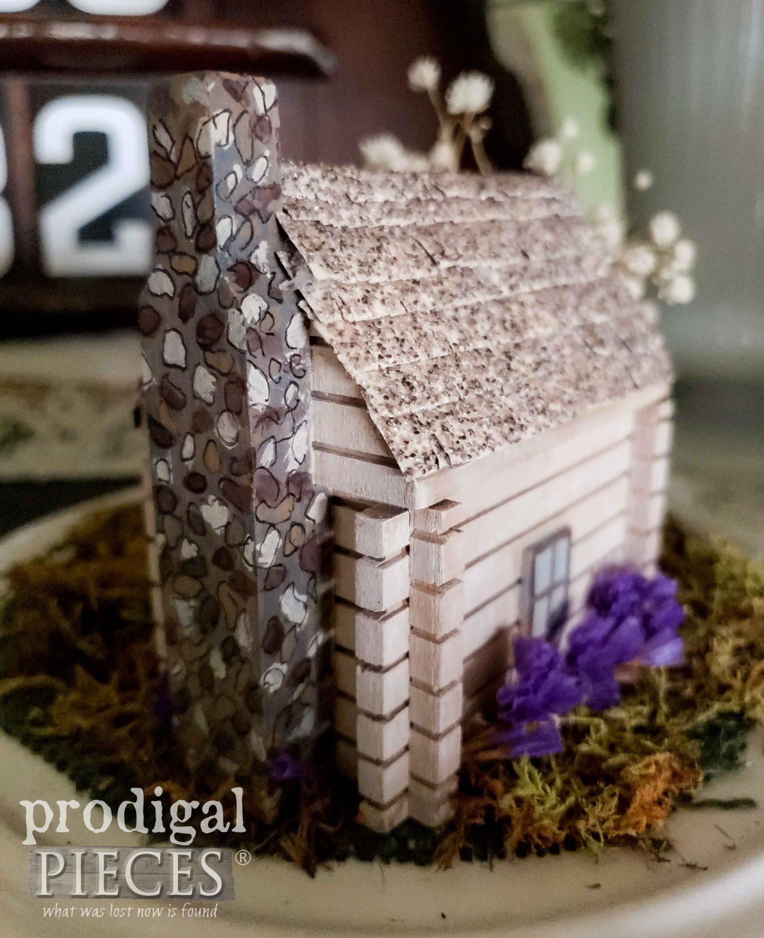 Tiny Log Home with Chimney by Larissa of Prodigal Pieces | prodigalpieces.com #prodigalpieces #farmhouse #miniature #covid19 #corona #quarantine