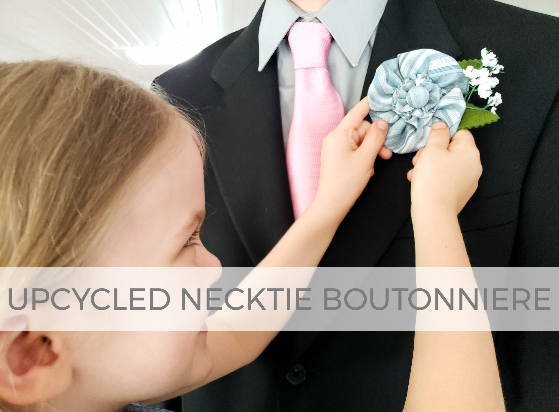 Upcycled Necktie Boutonniere Video Tutorial by Larissa of Prodigal Pieces | prodigalpieces.com #prodigalpieces