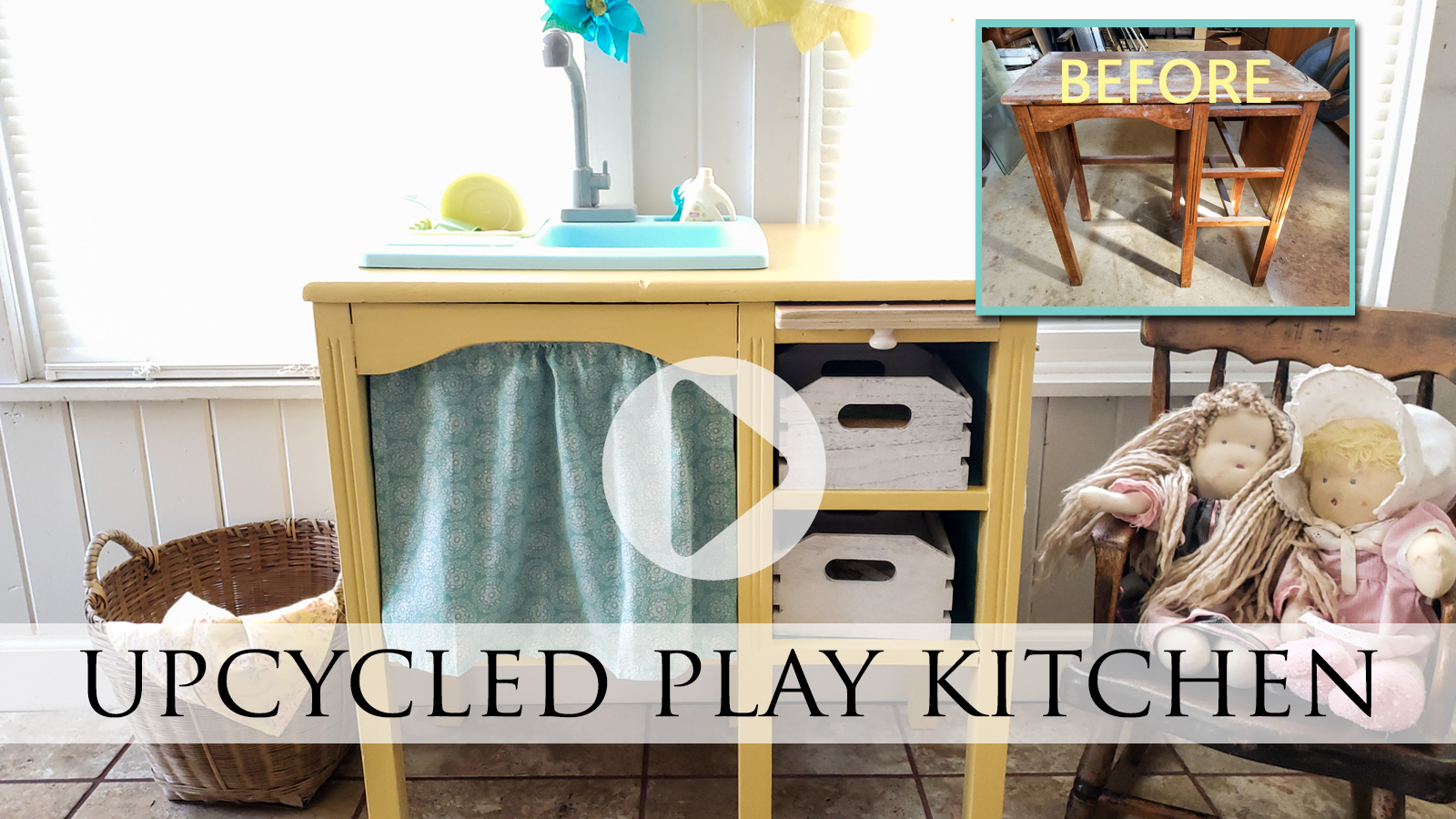 DIY Video Tutorial Upcycled Play Kitchen by Larissa of Prodigal Pieces | prodigalpieces.com