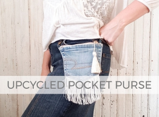 Create a denim upcycled pocket purse with video tutorial by Larissa of Prodigal Pieces | prodigalpieces.com #prodigalpieces