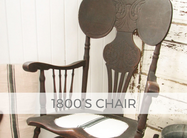 1800's Antique Rocking Chair by Larissa of Prodigal Pieces | prodigalpieces.com #prodigalpieces
