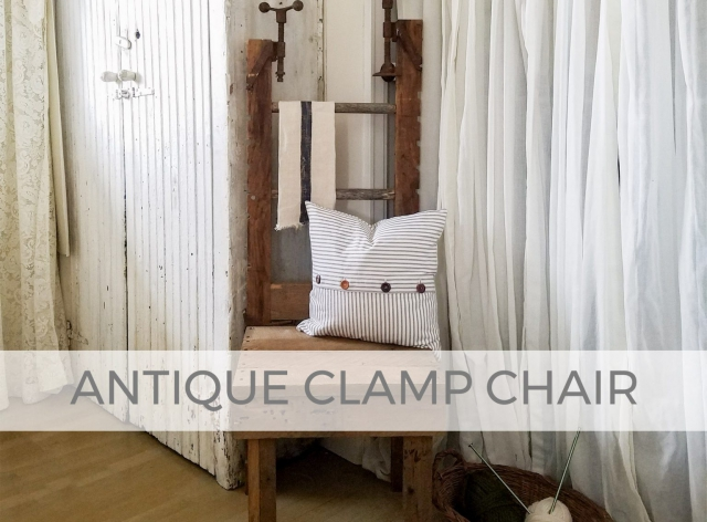 Rustic Farmhouse Chair made from Antique Clamps by Larissa of Prodigal Pieces | prodigalpieces.com #prodigalpieces