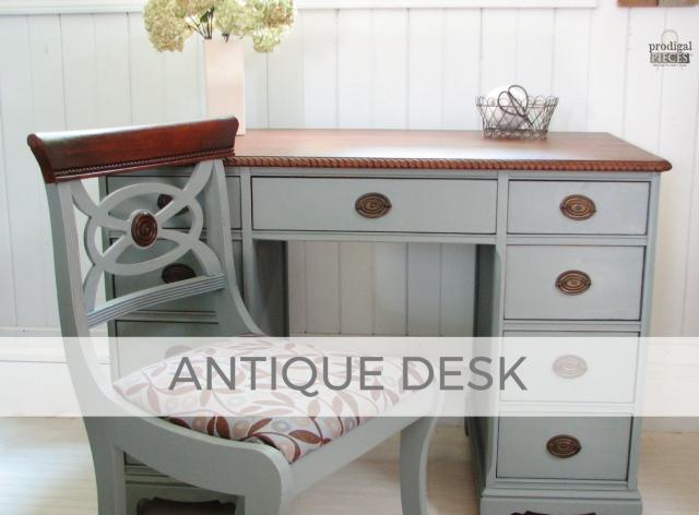 Antique Desk Makeover by Larissa of Prodigal Pieces | prodigalpieces.com