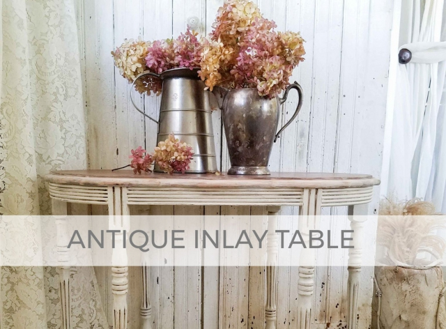 Antique Inlay Table by Larissa of Prodigal Pieces | prodigalpieces.com