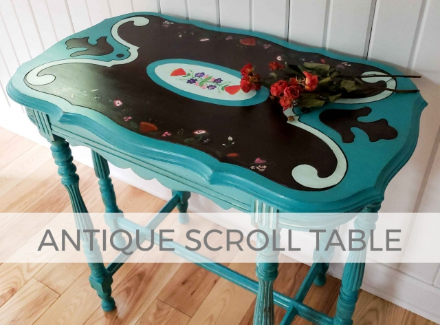 Antique Scroll Table by Larissa of Prodigal Pieces | prodigalpieces.com