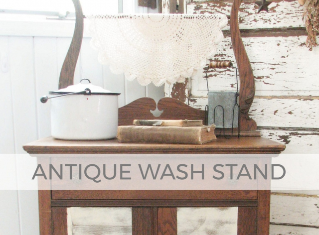 Antique Wash Stand by Larissa of Prodigal Pieces | prodigalpieces.com