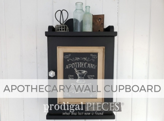 Apothecary Wall Cupboard by Larissa of Prodigal Pieces | prodigalpieces.com