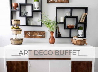 Art Deco Buffet Makeover by Larissa of Prodigal Pieces | prodigalpieces.com