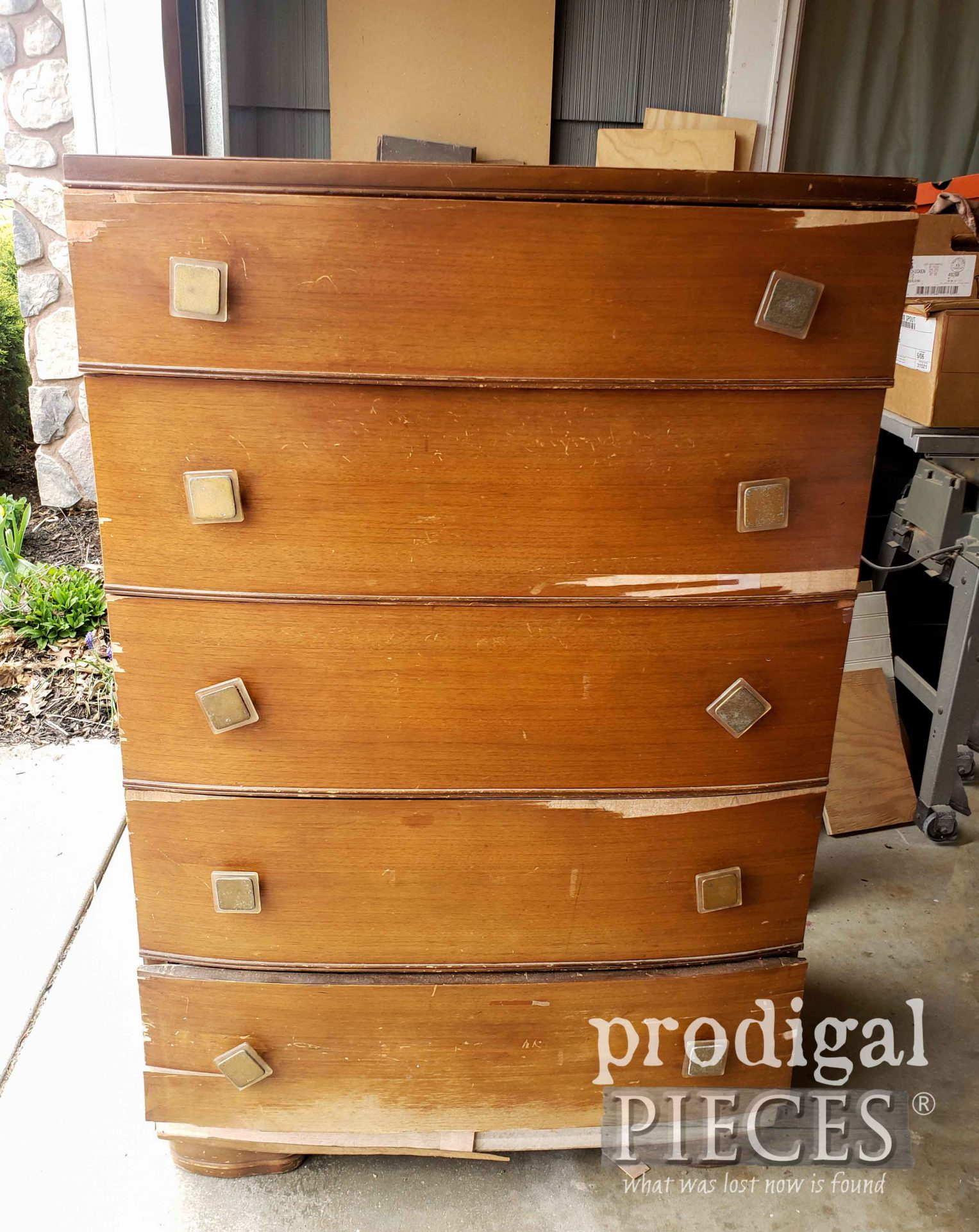 Antique Art Deco Chest of Drawers Before Makeover by Larissa of Prodigal Pieces | prodigalpieces.com #prodigalpieces
