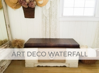 Art Deco Waterfall Blanket Chest by Larissa of Prodigal Pieces | prodigalpieces.com #prodigalpieces