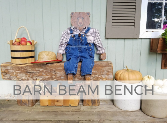 Rustic Reclaimed Barn Beam Bench by Larissa of Prodigal Pieces | prodigalpieces.com