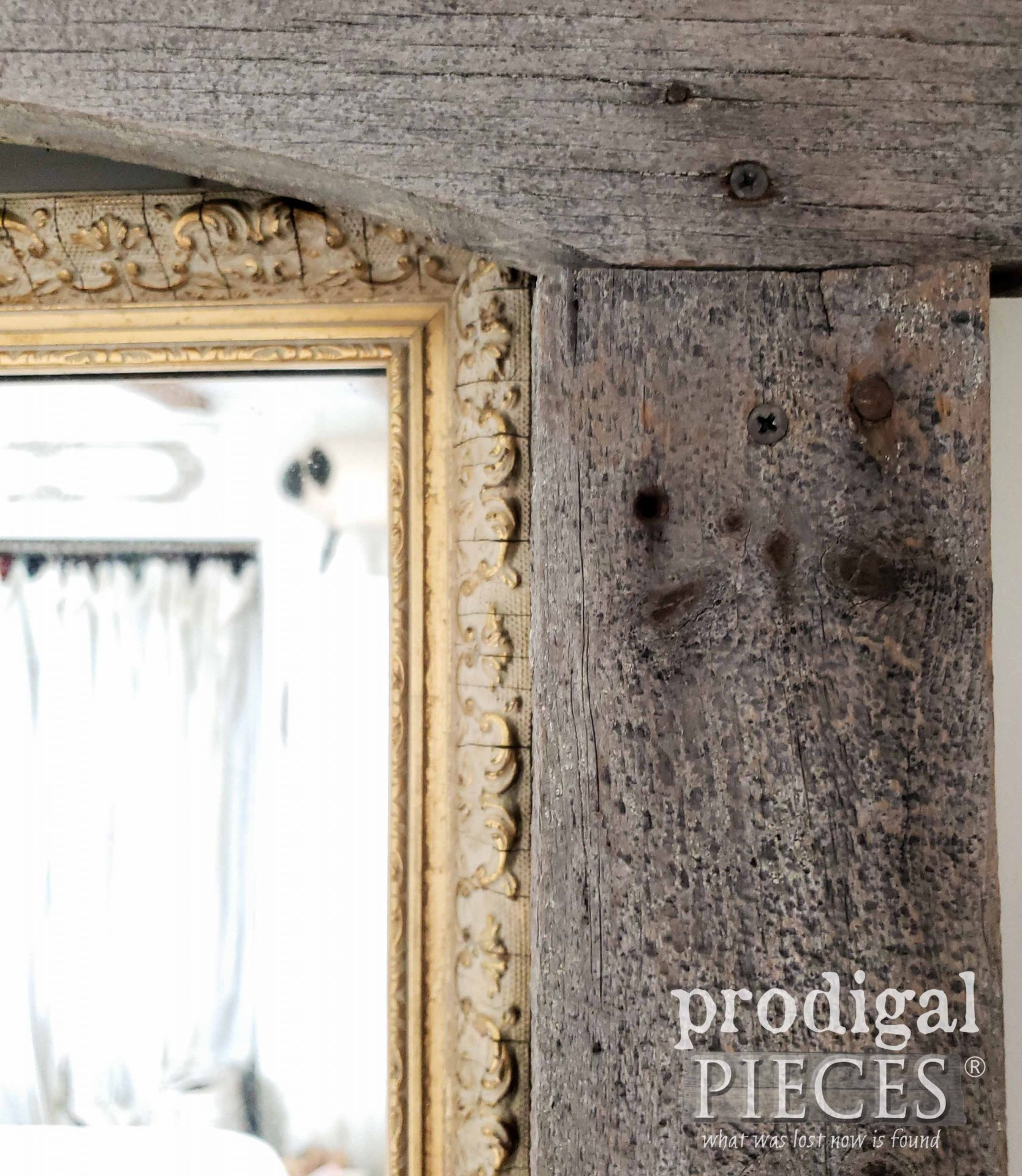 Patina Barn Wood Mirror by Prodigal Pieces | prodigalpieces.com #prodigalpieces