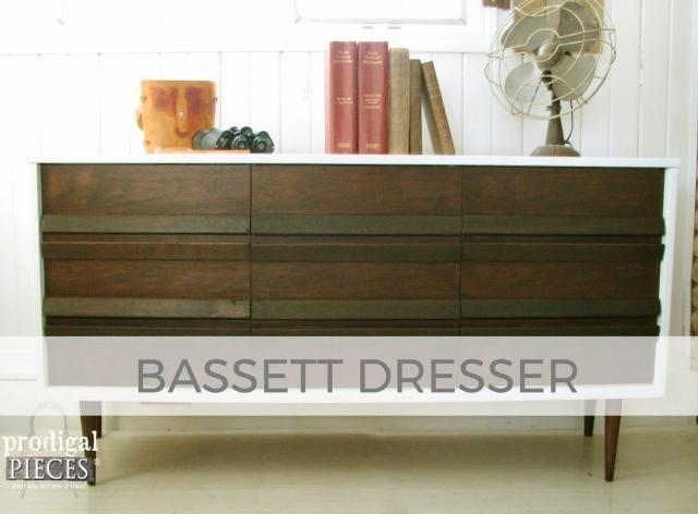 Vintage Bassett Dresser by Larissa of Prodigal Pieces | prodigalpieces.com