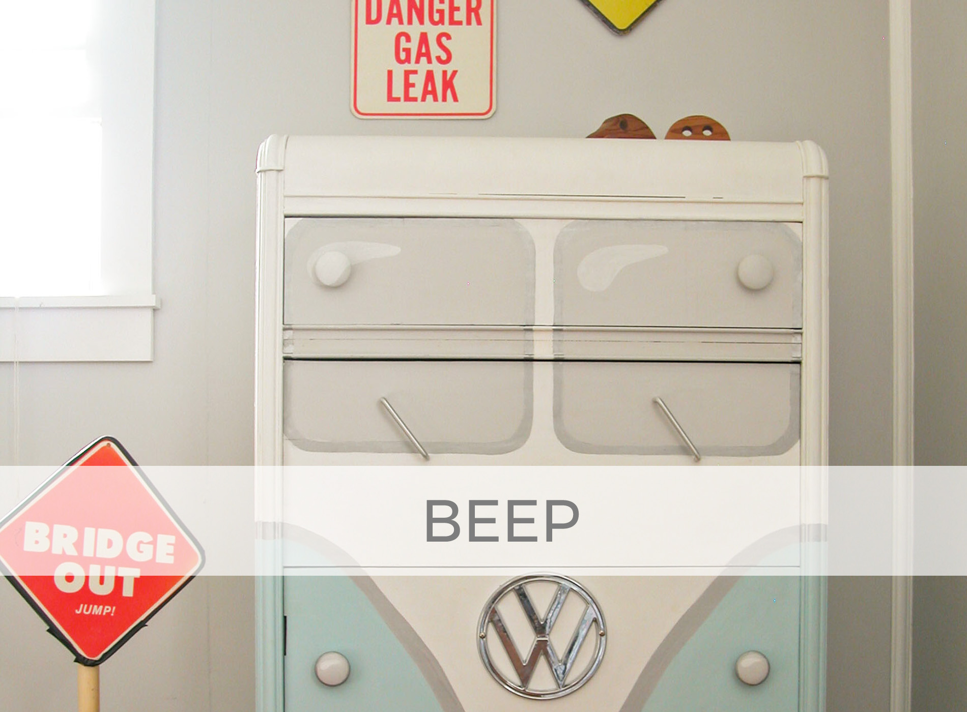 Art Deco Chest of Drawers Gets Volkswagen Bus Makeover by Larissa of Prodigal Pieces | prodigalpieces.com #prodigalpieces