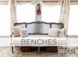 Benches by Larissa of Prodigal Pieces | prodigalpieces.com