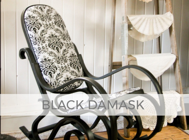 Black Damask Bentwood Rocking Chair by Larissa of Prodigal Pieces | prodigalpieces.com #prodigalpieces