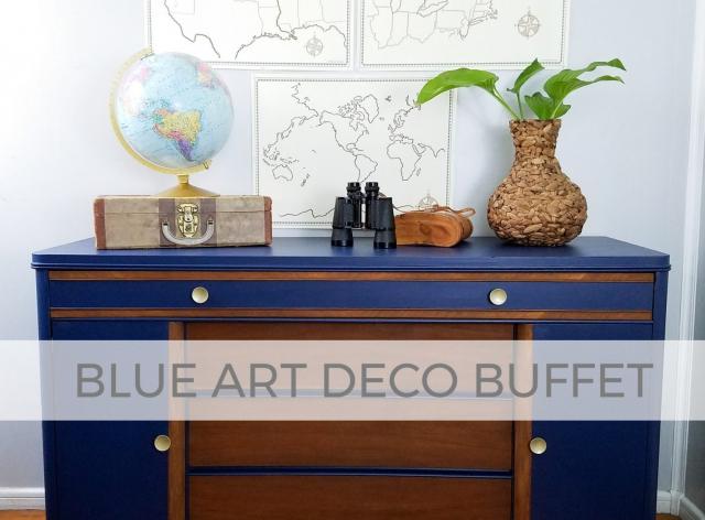 Vintage Art Deco Buffet in Blue by Prodigal Pieces | prodigalpieces.com