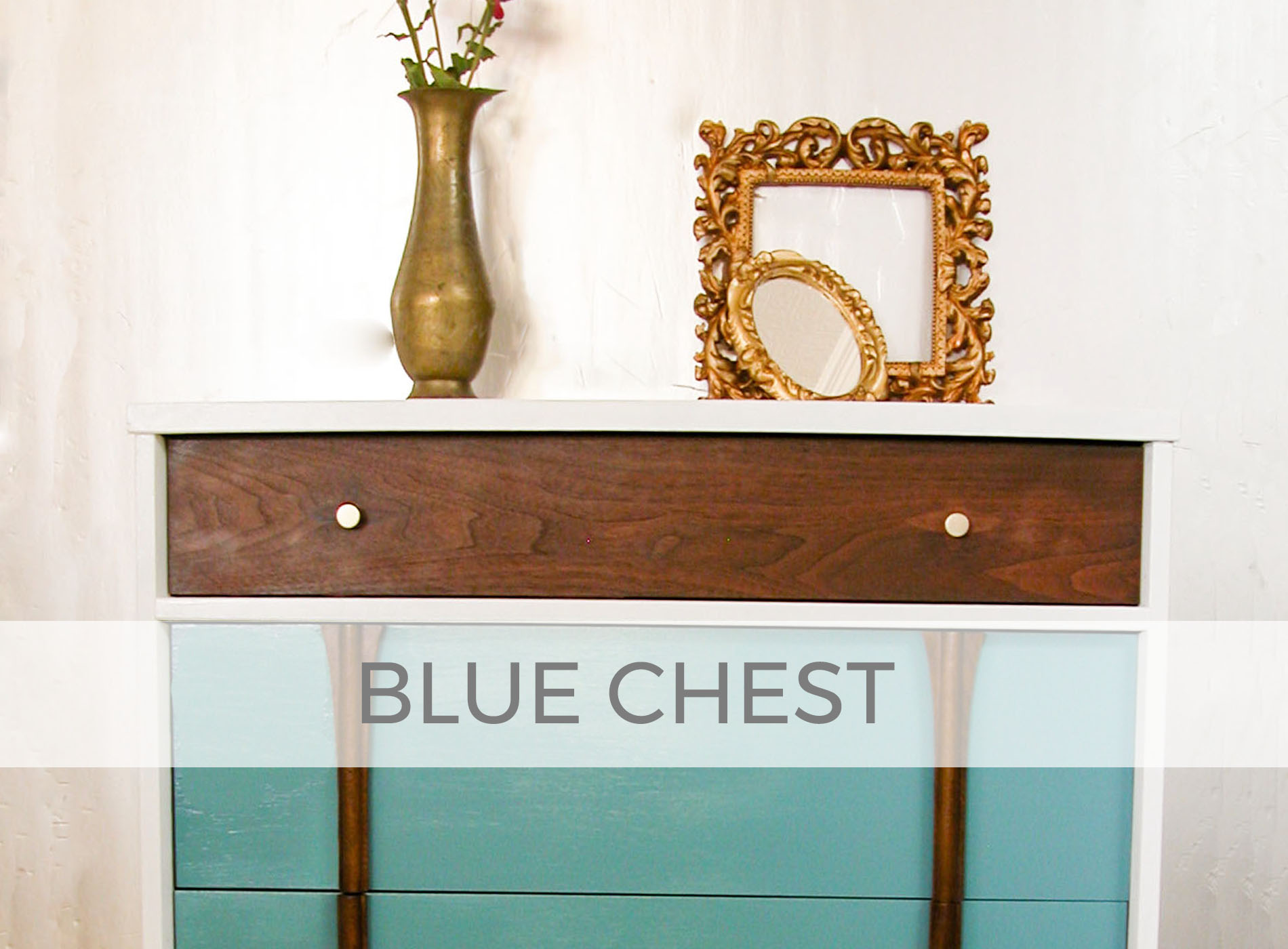 Blue Mid Century Modern Chest of Drawers by Larissa of Prodigal Pieces | prodigalpieces.com