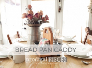 Upcycled Bread Pan Caddy by Larissa of Prodigal Pieces | prodigalpieces.com